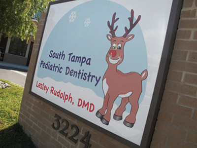 Sign for South Tampa Pediatric Dentistry